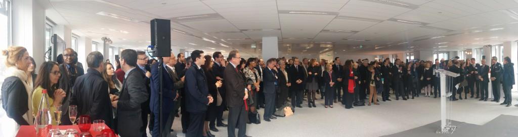 Environ 300 invités présents pour l'inauguration d'Eco Campus
