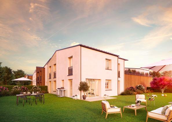 Claye-Souilly - Résidence Plein-Ciel - Perspective jardin
